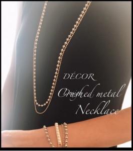 cmetal necklace